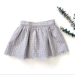 3T Gymboree Quilted/Embroidered Skirt